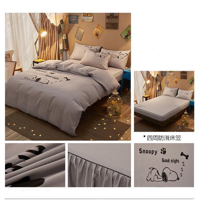 歐式純色四件套床上用品床笠4件套防滑床單1.21.5m床罩1.8米被套