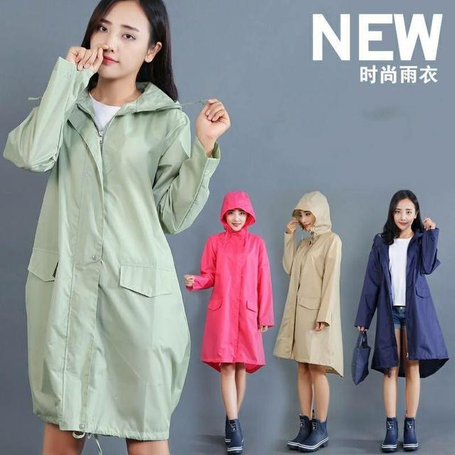 時尚輕便風衣式雨衣
