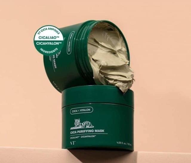 現貨在台 新品上市 韓國VT CICA 老虎積雪草毛孔清潔綠泥膜 120ML