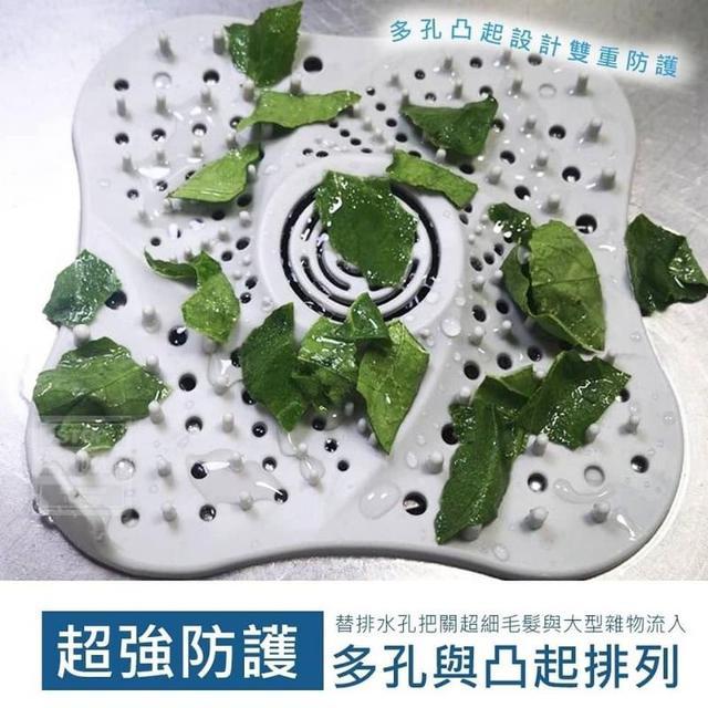 吸盤式水槽排水孔過濾網(3入)◇不挑色