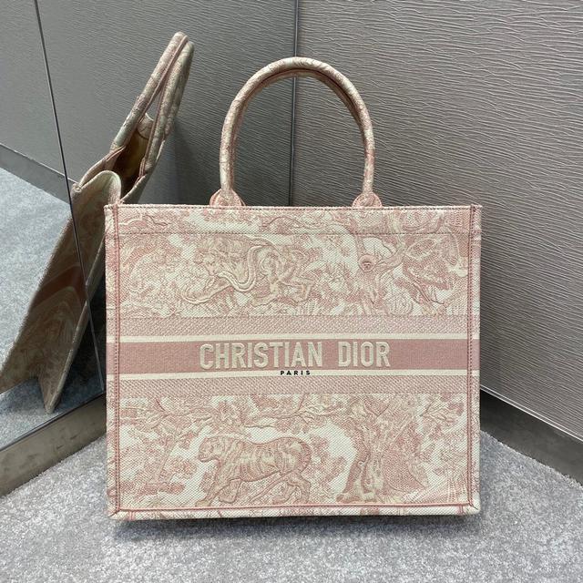 頂級原單Dior刺繡粉老虎