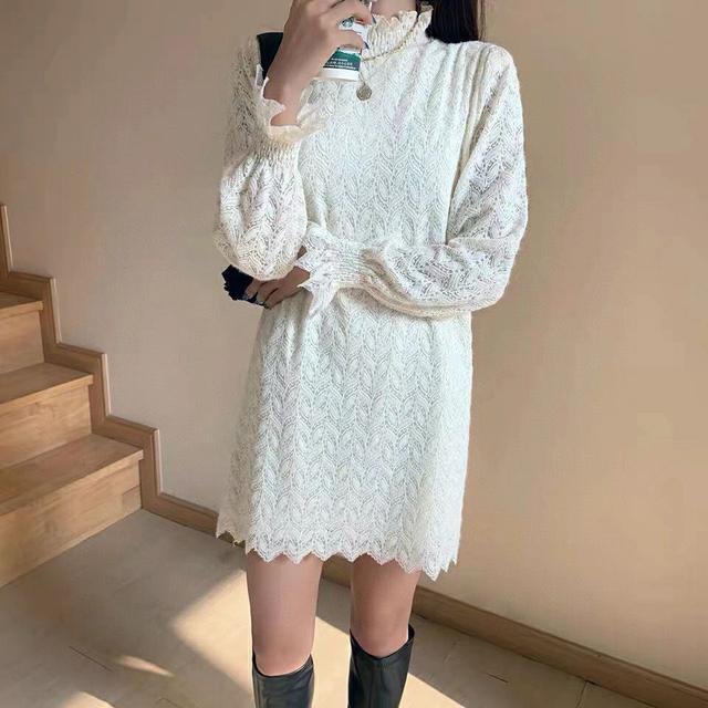 ◼️新款加絨蕾絲連衣裙