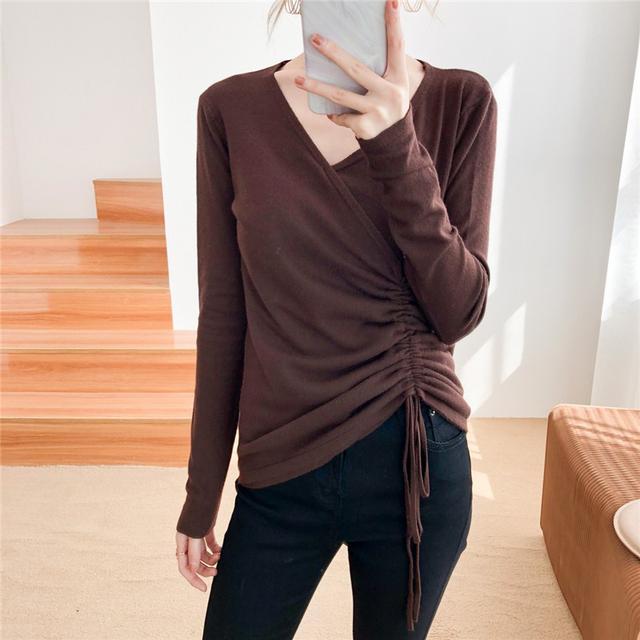 11/18 XL-4XL 大碼韓版顯瘦時尚針織衫胖mm抽身V領(兩色