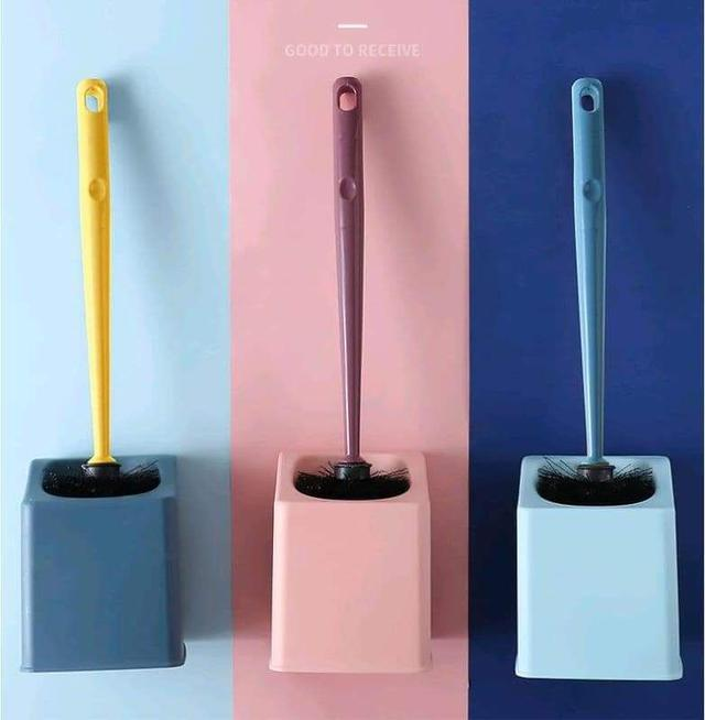 (預購S) 壁掛式長柄馬桶清潔刷收納組