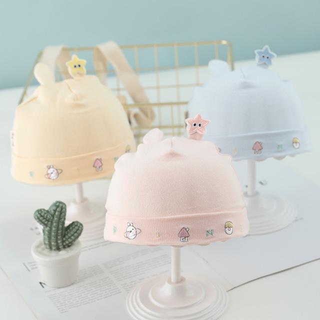 (預購)新生男寶寶帽子可愛薄款夏天女童嬰兒