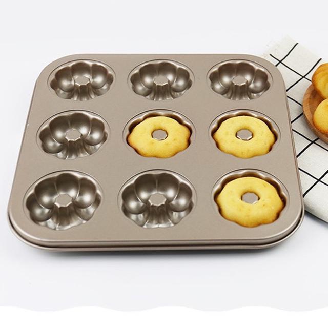 9花型蛋糕模 甜甜圈 不粘蛋糕模 碳钢 蛋糕模具 烘焙模具
