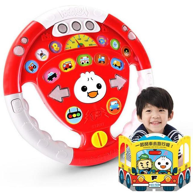 風車 汽車遊戲方向盤(紅色)-FOOD超人 580