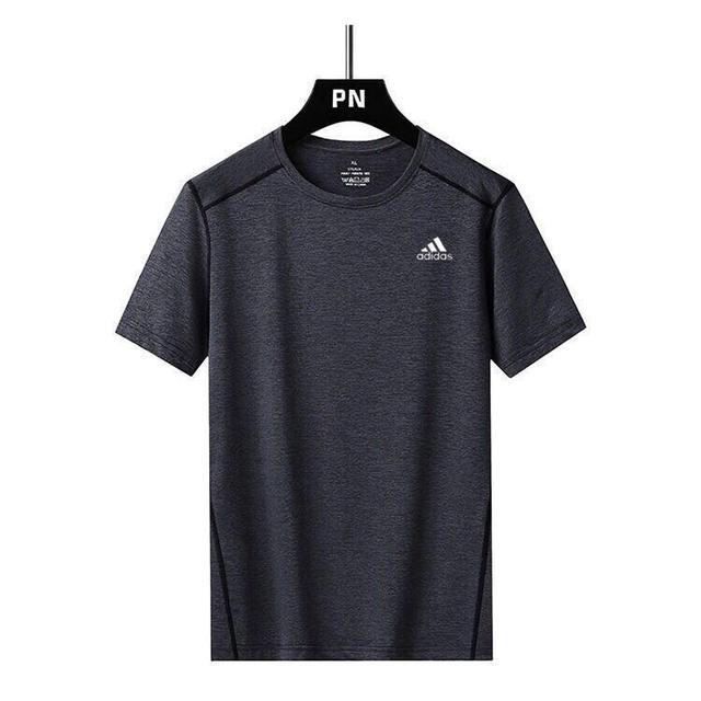 夏季冰絲速乾短袖T恤男運動彈力寬松大碼吸濕排汗跑步女打底衫潮