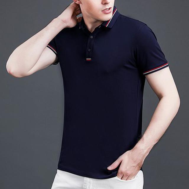 06 M-4XL 優質純棉商務短袖POLO衫(5色)
