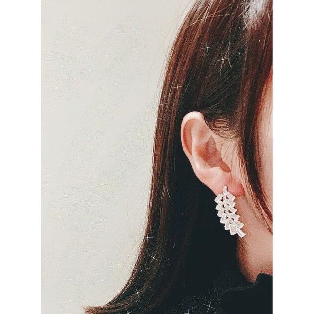 🌟預購🌟 韓版華麗滿鑽樹葉耳環