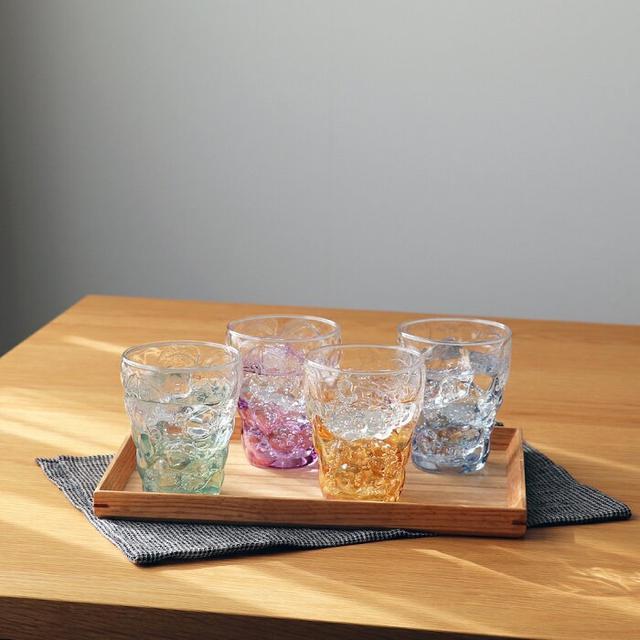 🇯🇵日本製 超美葡萄浮雕漸層杯4入組