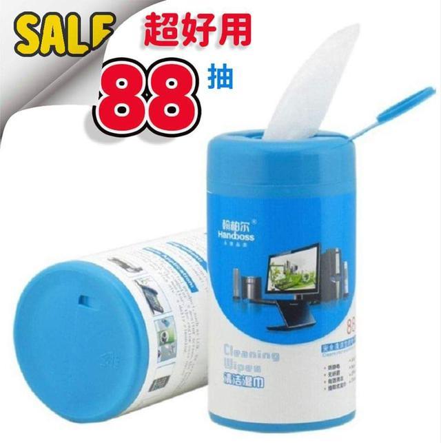現貨2(預購S) 超細纖維專用鏡片平板螢幕玻璃88抽清潔巾