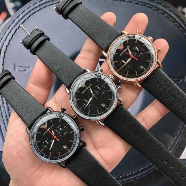 阿瑪尼Armani  多維度計時功能錶盤 時尚的立體質感 彰顯摩登都市風 飛行員系列男士腕表