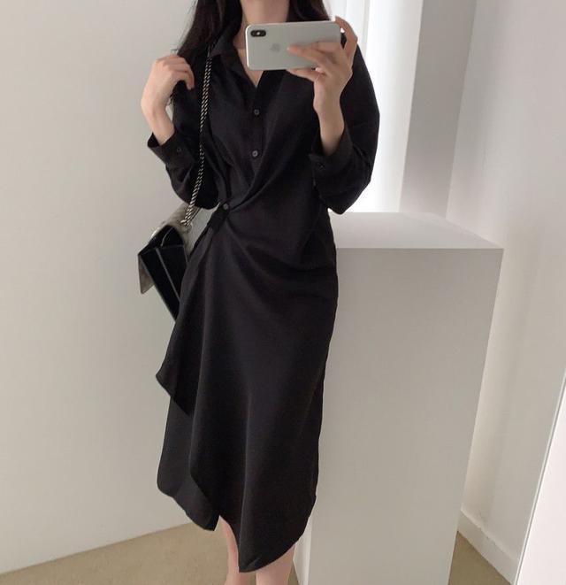 【預購】下擺不規則氣質洋裝