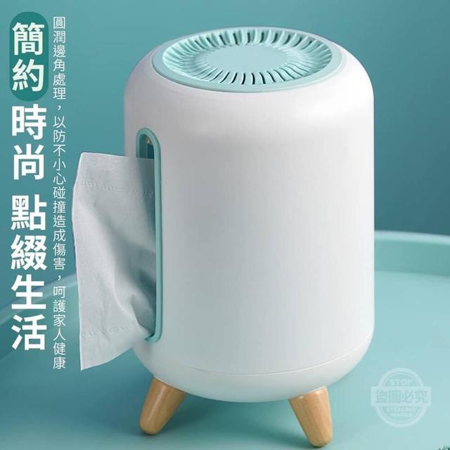 【預購】北歐圓筒側抽竹炭面紙盒