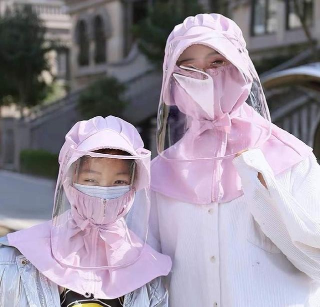 (預購s+) G012-防疫防曬遮陽可拆卸面罩帽