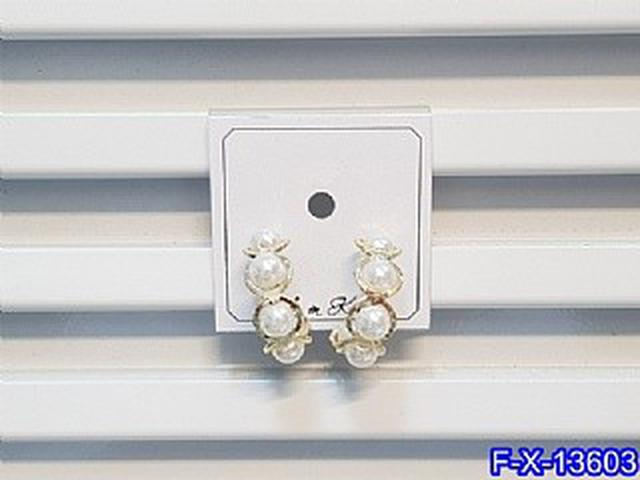 氣質珍珠C型耳圈耳環   耳針 韓式