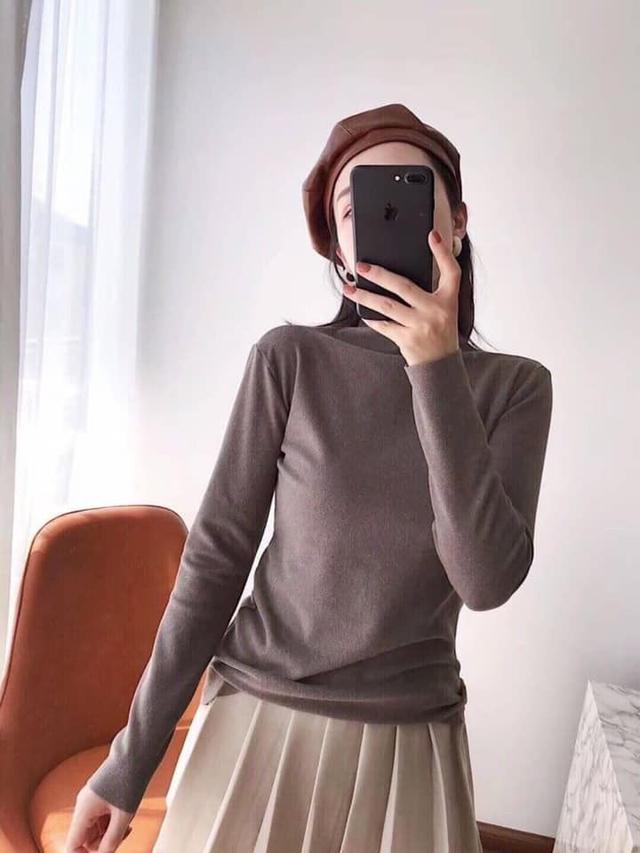 正品MOTIE陽離子羊絨針織衫