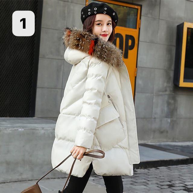 2020新款棉衣女冬裝外套韓版大毛領棉服中長款加厚棉襖