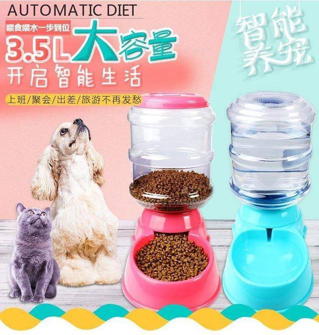 寵物自動飲水器餵食器