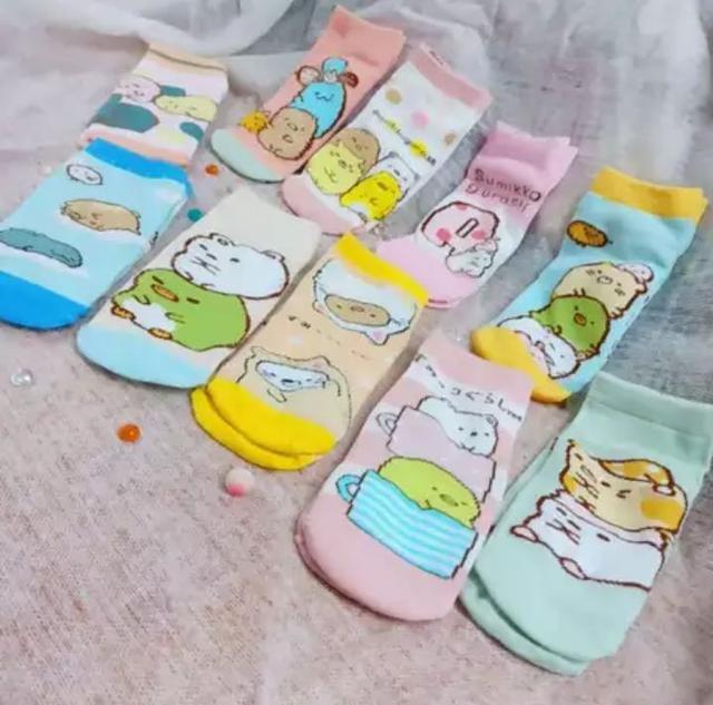 💦現貨💦角落生物大童船型短襪(5雙/組)