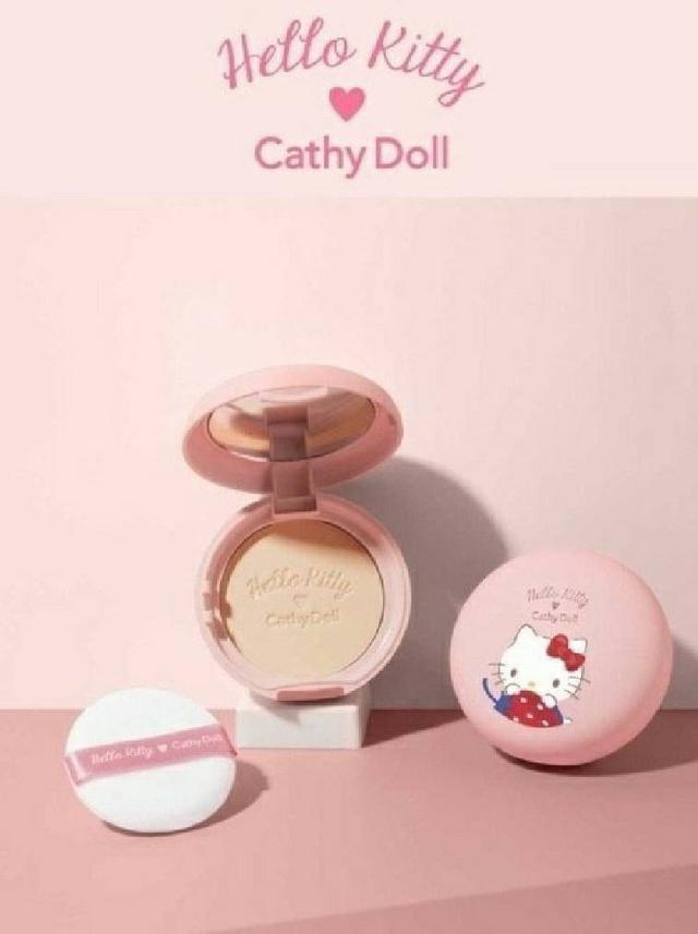 泰國Cathy Doll x Hello Kitty 控油定妝粉餅 6.5g