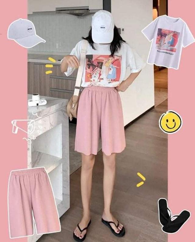 (預購S) K336 - 冰絲五分褲垂感顯瘦五分褲