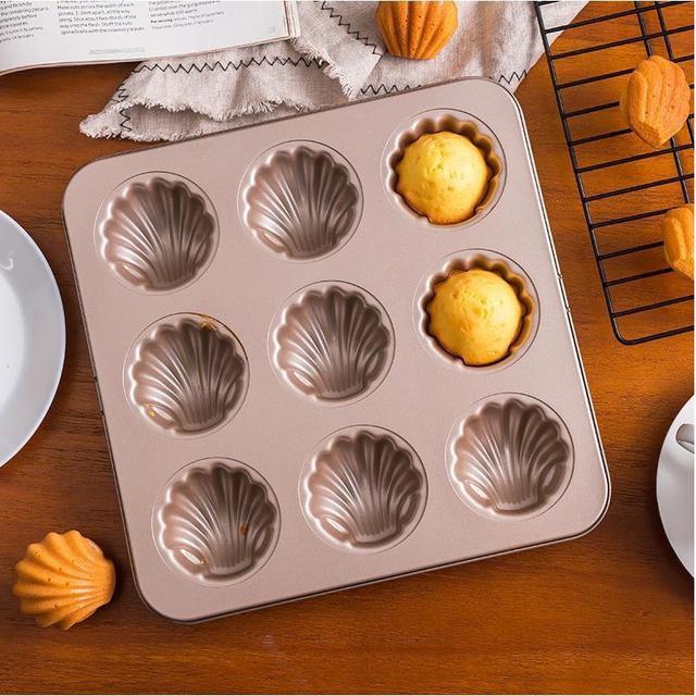 9連貝殼香蕉模具 蛋糕模具 瑪德琳模具 烤箱模具 烘焙家用不粘烤盤