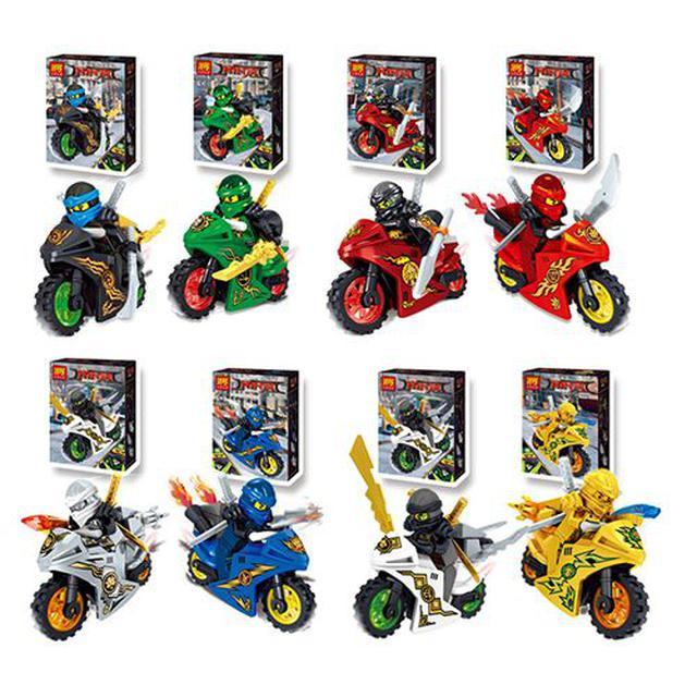 (預購z) 將牌31050忍者系列之炫酷摩托賽車8款