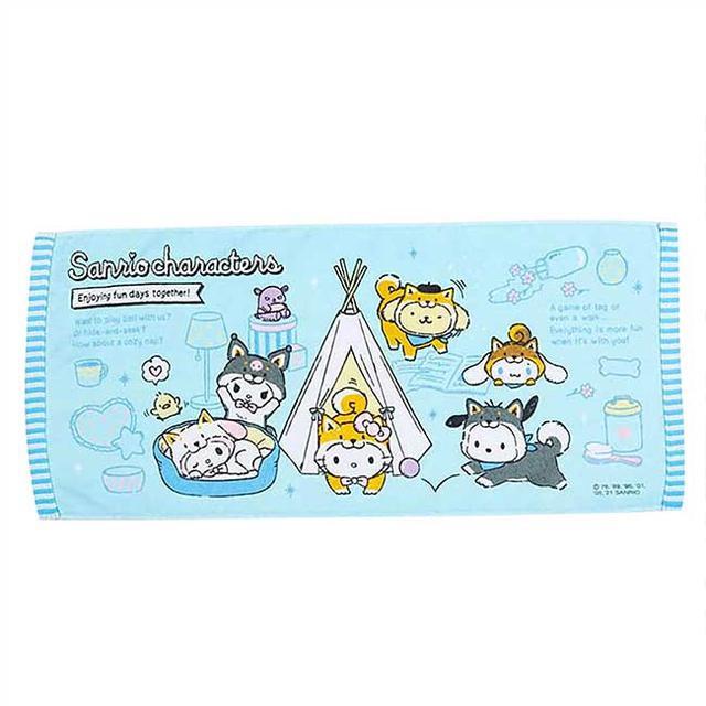 純棉毛巾 Sanrio 凱蒂貓 角色集合 日本進口正版授權