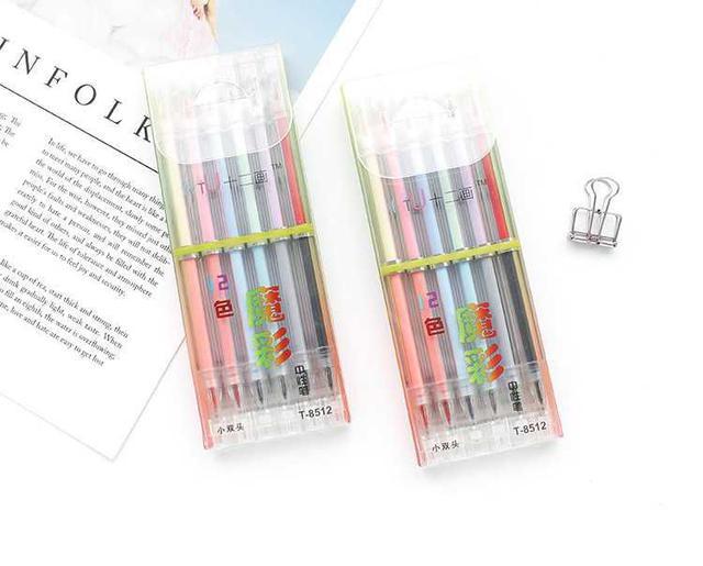 [雜貨店]💋魔彩雙頭12色中性筆