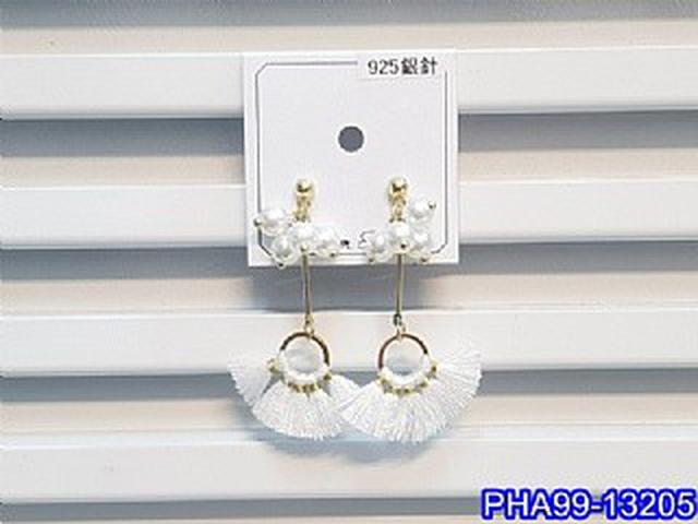 正韓S925純銀 珍珠串鏤空圓環流蘇長款耳環   耳針 韓式