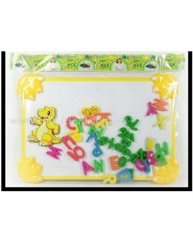 恐龍造形寫字白板(附贈英文字母磁
