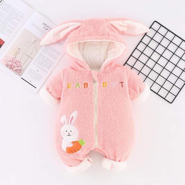 【預購】兔子保暖爬服
