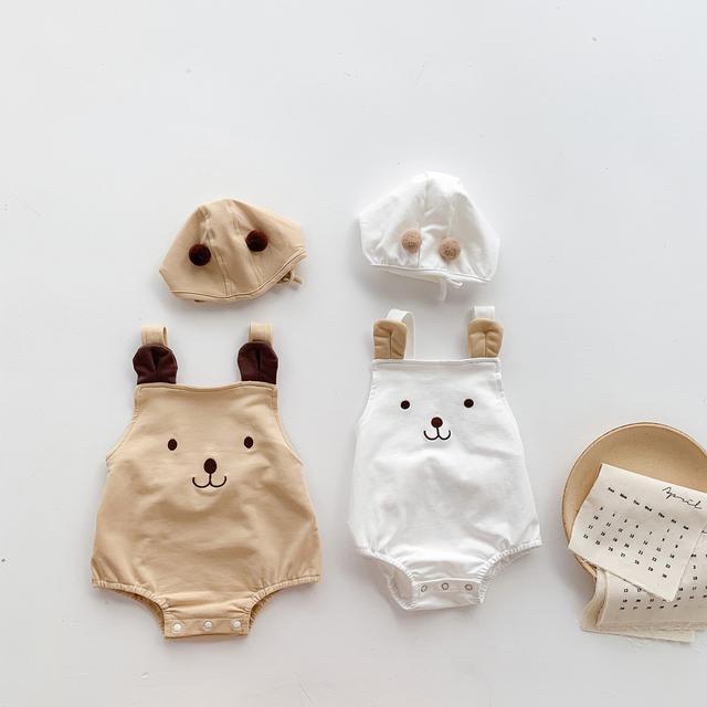 夏季童裝 寶寶可愛小熊無袖包屁衣