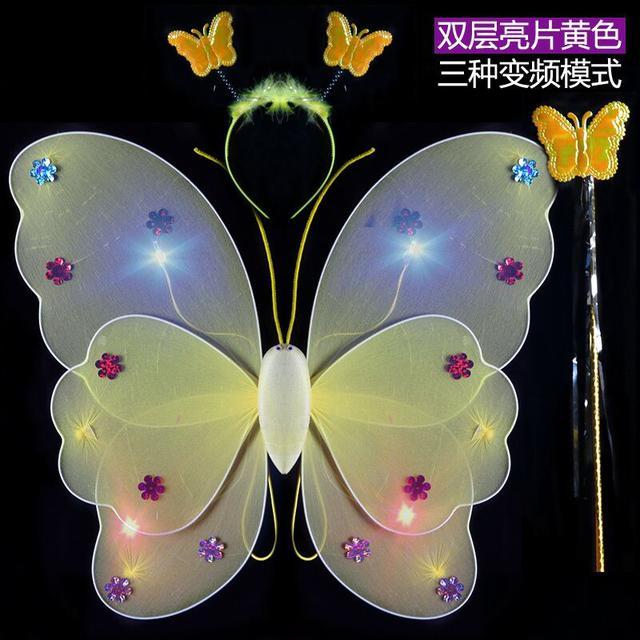 預購背發光天使蝴蝶翅膀兒童奇妙仙子道具(舞)