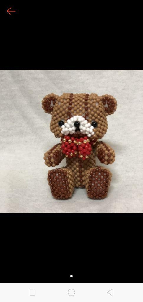 純手工串珠泰迪熊