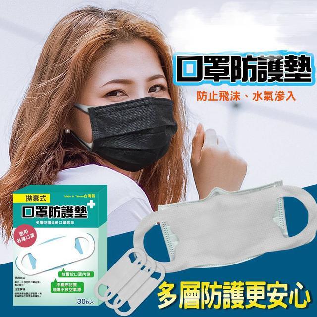 【預購】台灣MIT拋棄式口罩防護墊30枚入(盒裝版)