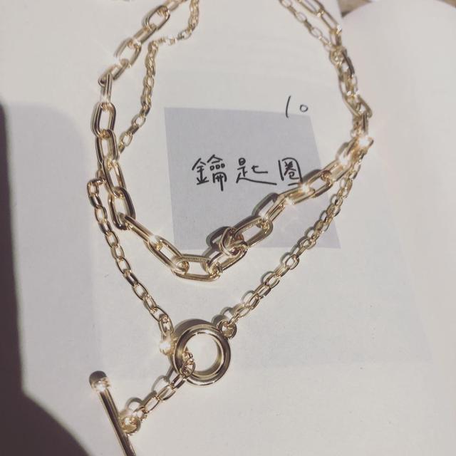 雙層造型疊戴鎖骨鏈