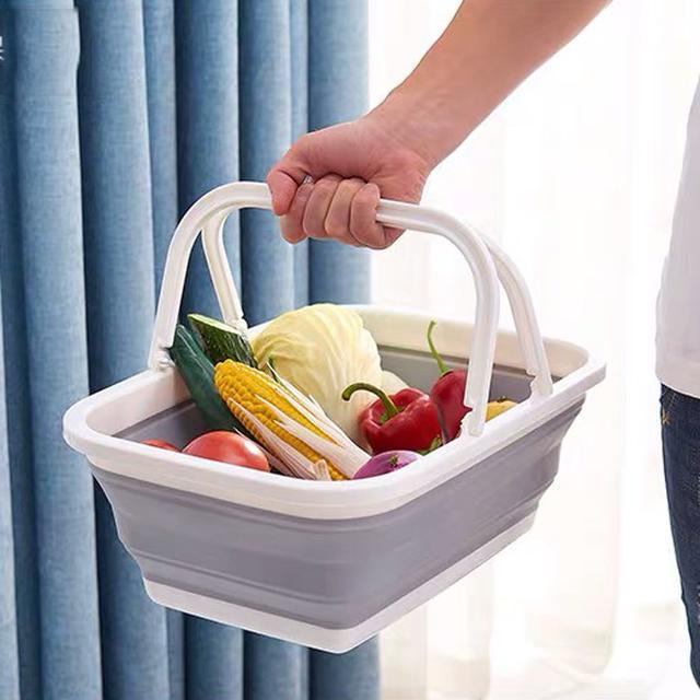 可折疊手提籃 便攜買菜籃子 工具等收納