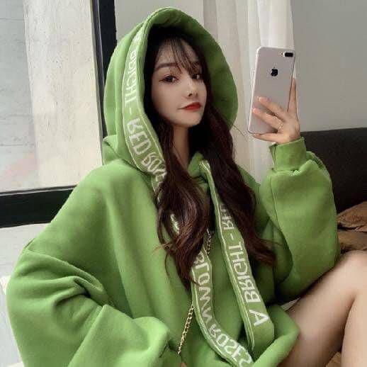 韓國東大門加絨加厚綁帶潮流帽衣