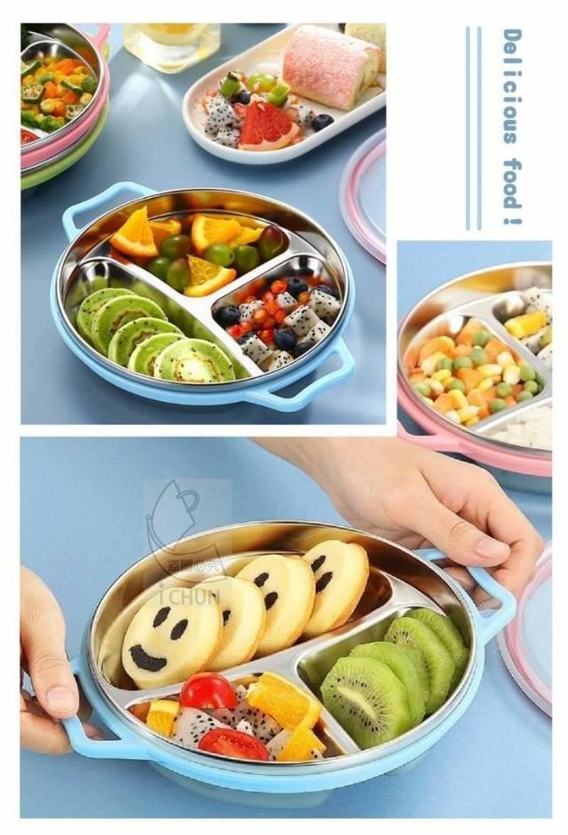 304不鏽鋼兒童快餐盒