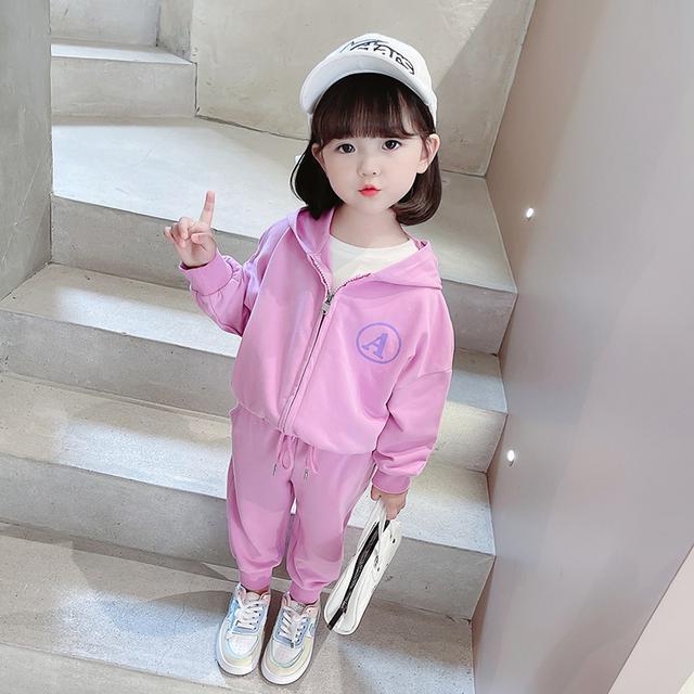 秋裝韓版洋氣女童牛仔裙子兩件套(貝)