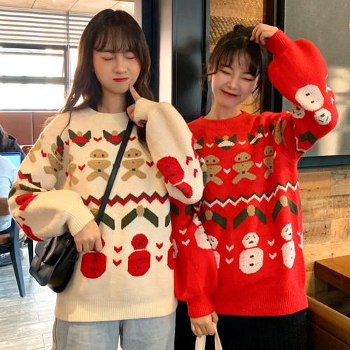 B 12/10 雪人針織毛衣(2色)