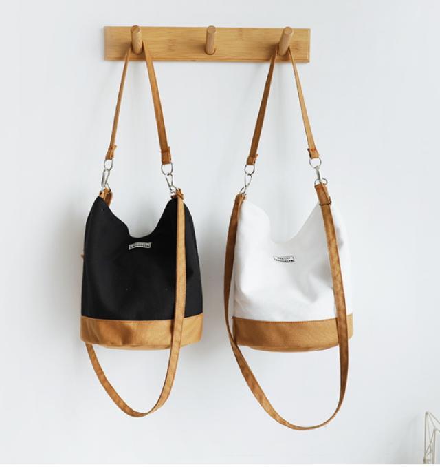 (3入)帆布水桶包單肩包