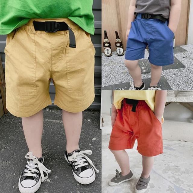 方口袋時尚腰帶褲