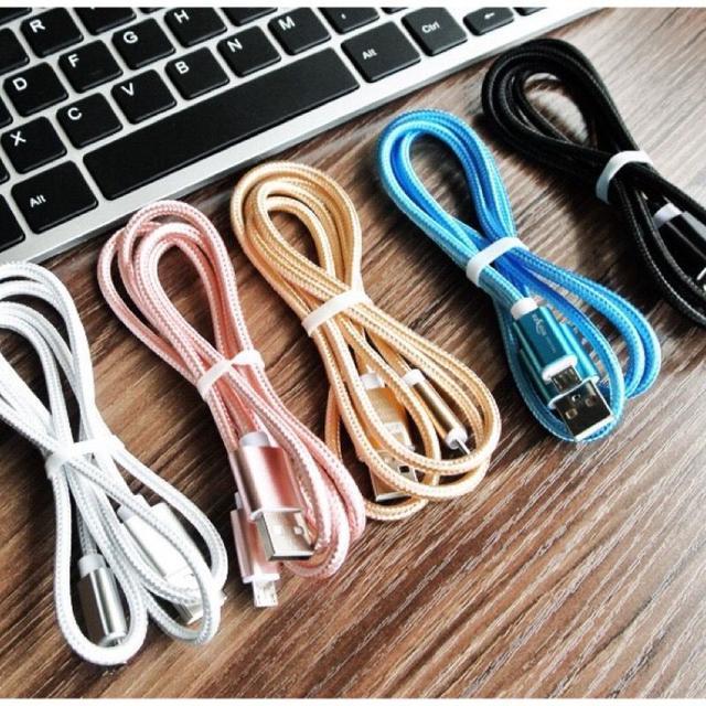 1米金屬線  尼龍編織線 安卓/Type-c 傳輸充電線加粗4.0