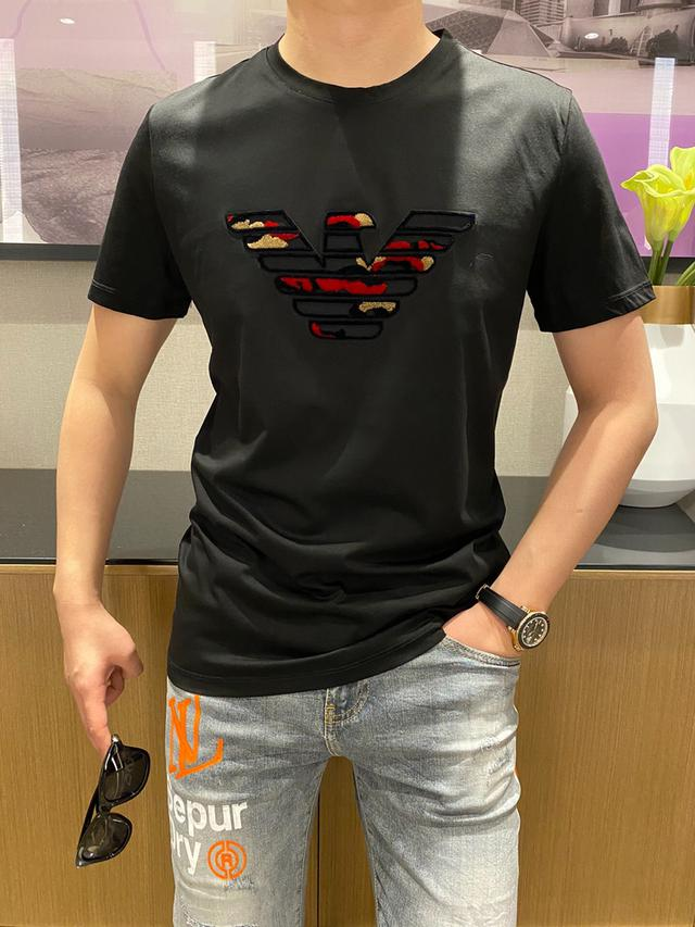 原單 Armani 、2021ss春夏新款、男士短袖T恤🔥