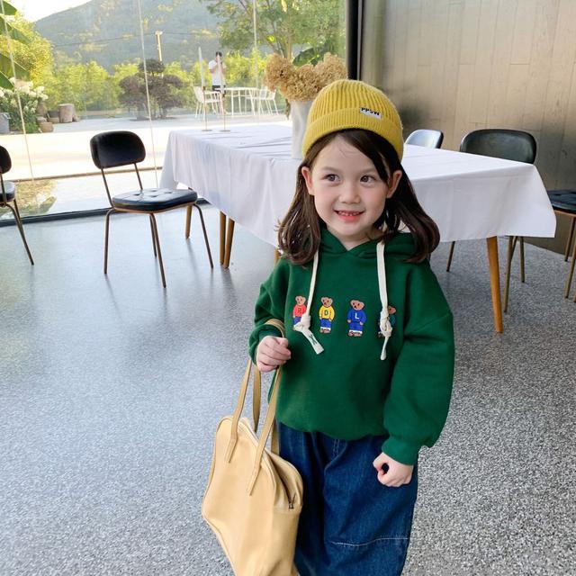 qq187女童衛衣2021秋裝新款兒童網紅韓版洋氣套頭寶寶連帽上衣潮