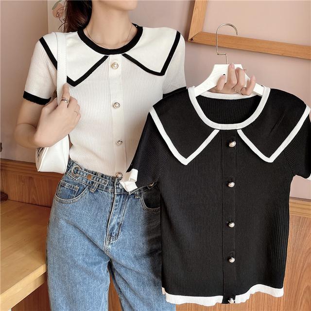 夏季韓系薄款針織衫